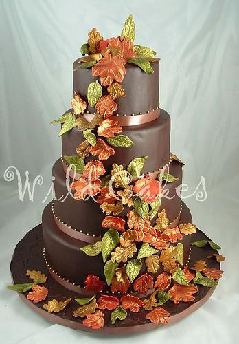 Fall Themed Wedding Cakes  Autumn Vanilla Picture Autumn Themed Wedding Cakes
