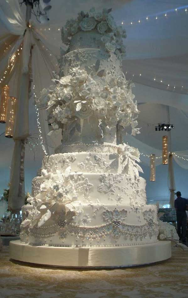 Famous Wedding Cakes  Most Expensive Celebrity Wedding Cakes Top Ten List