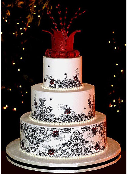 Fancy Wedding Cakes  Image Fancy Wedding Cake