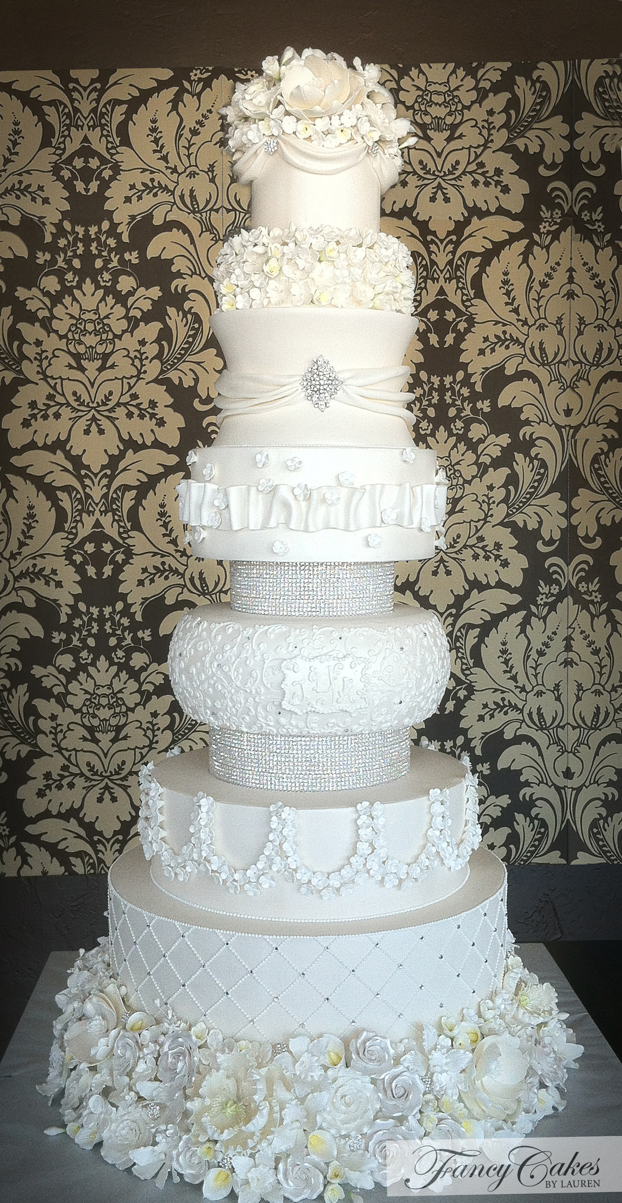 Fancy Wedding Cakes  Weddings in White Part 2 on Pinterest
