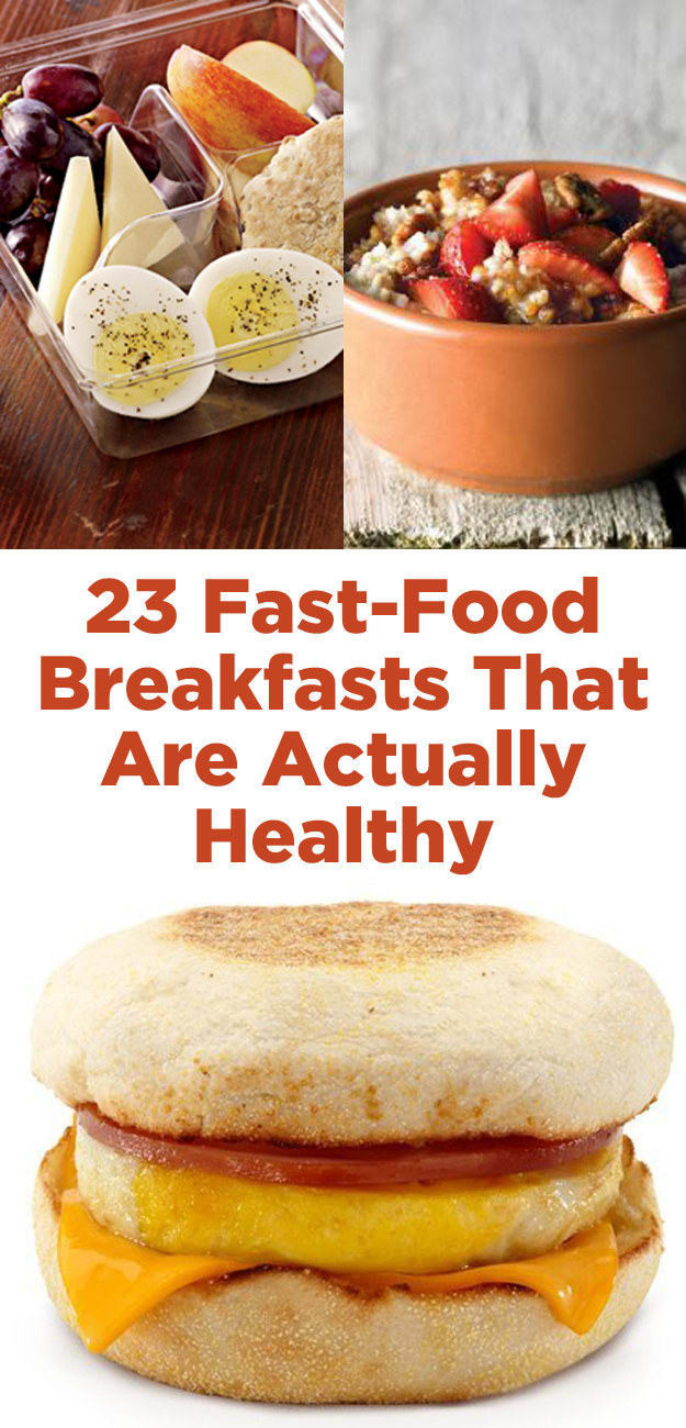 Fast Healthy Breakfast  healthy breakfast fast food