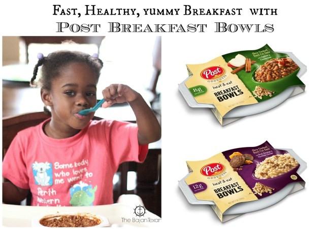 Fast Healthy Breakfast To Go  Fast Healthy Breakfast Post Goodness to Go Breakfast Bowl