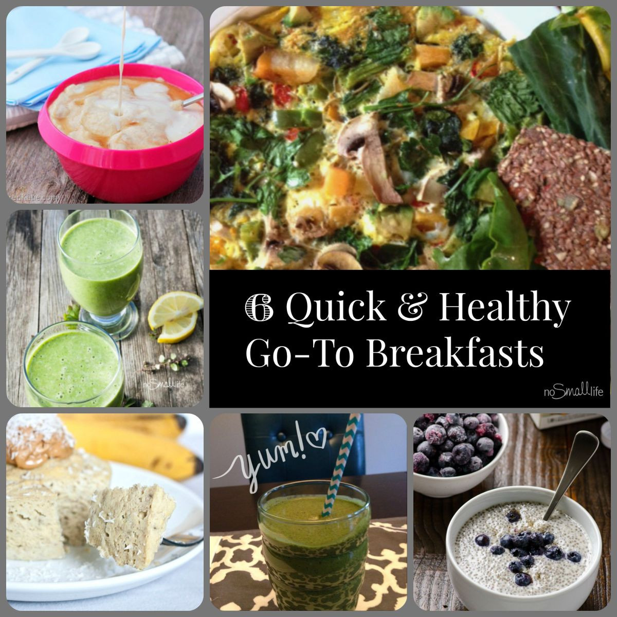 Fast Healthy Breakfast To Go  My 6 Quick & Healthy Go To Breakfasts