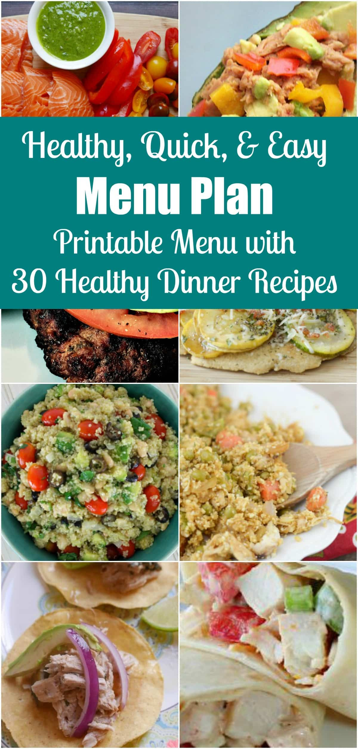 Fast Healthy Dinners For Family  Quick Easy & Healthy Dinner Menu Plan 30 Simple Recipes