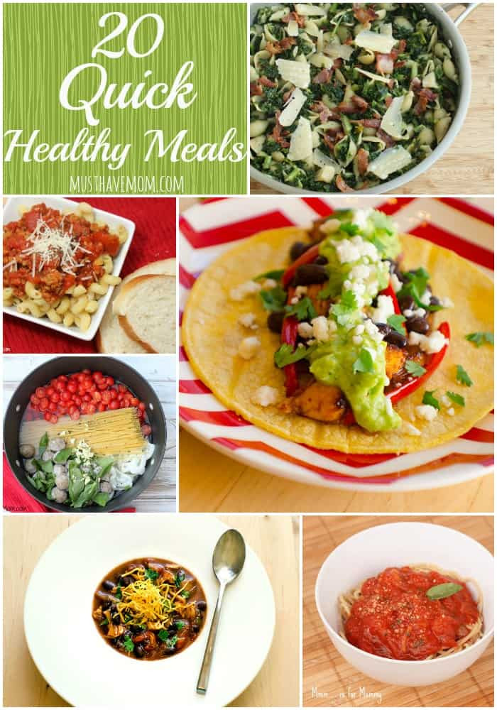 Fast Healthy Dinners  20 Quick Healthy Meals To Satisfy Your Cravings
