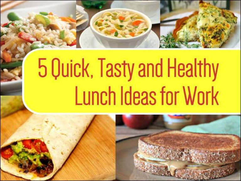 Fast Healthy Lunches For Work  5 Healthy Lunch Ideas For Work That Are Home Cooked
