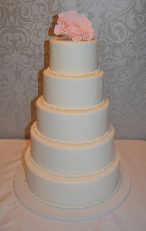 Faux Wedding Cakes  Five Tier Fondant Faux Wedding Cake Fake Wedding Cake Faux