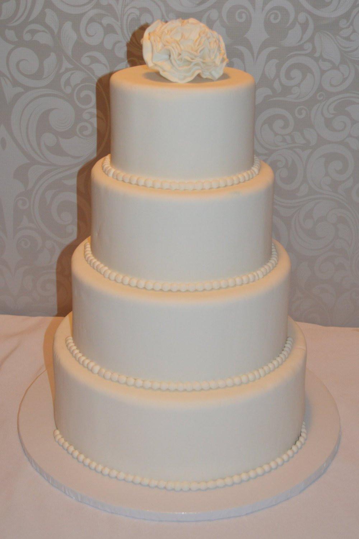 Faux Wedding Cakes  Four Tier Fondant Faux Wedding Cake Fake wedding cake faux
