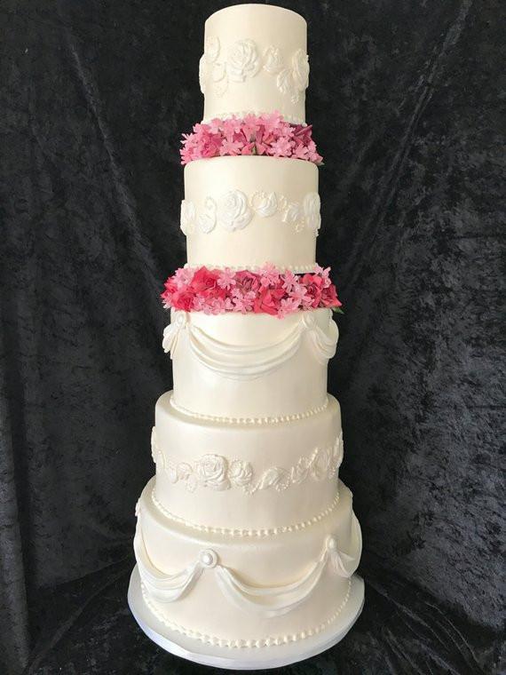 Faux Wedding Cakes  Five tier faux wedding cake