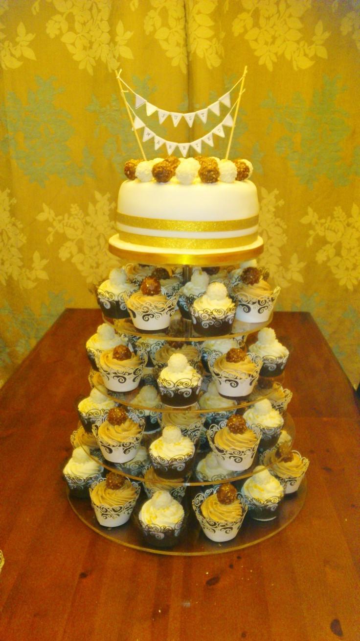 Ferrero Rocher Wedding Cakes  6 Tier Wedding Cake Belgian Chocolate Cupcakes topped