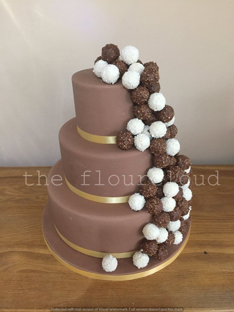 Ferrero Rocher Wedding Cakes  Ferrero rocher chocolate wedding cake