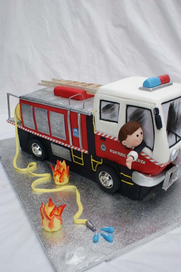 Fire Truck Wedding Cakes  Fire engine wedding Cake by Verusca on DeviantArt
