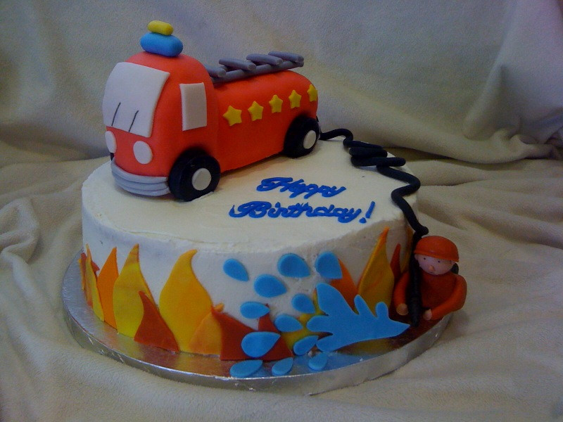 Fire Truck Wedding Cakes  Cool Fire Truck Birthday Cakes — CRIOLLA Brithday & Wedding