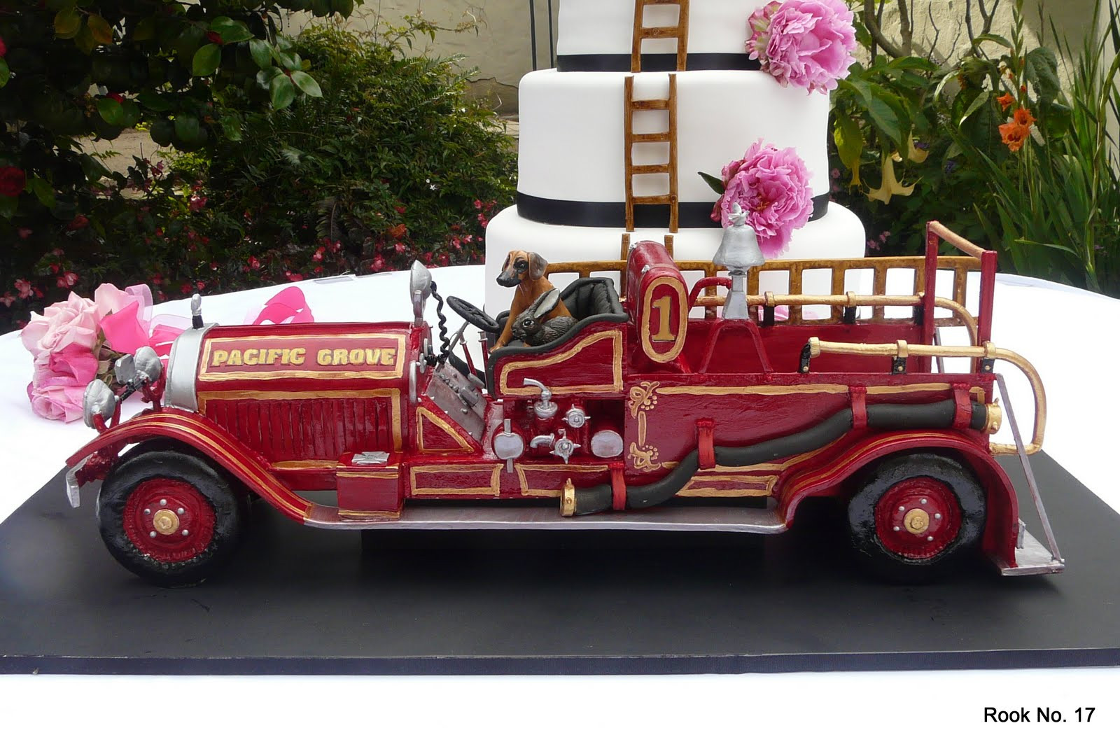 Fire Truck Wedding Cakes  Fire truck wedding cake idea in 2017