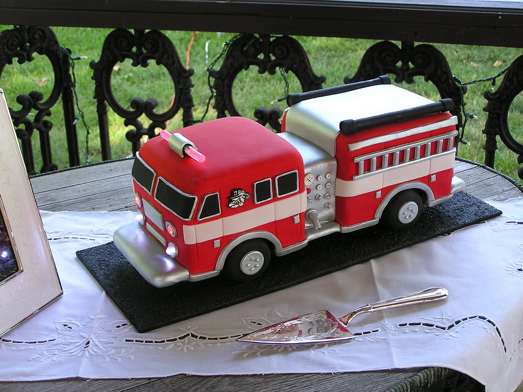 Fire Truck Wedding Cakes  Fire Truck Cake 1