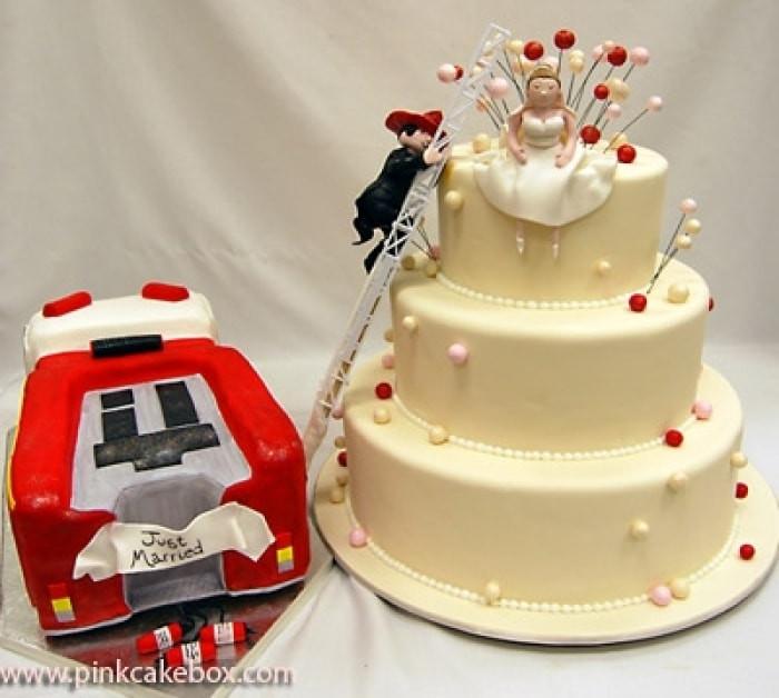 Fire Truck Wedding Cakes  Tema eiros ajuda