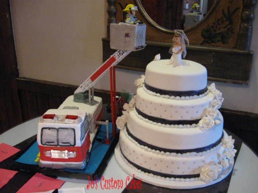 Fire Truck Wedding Cakes  Wedding Cake And Fire Truck CakeCentral