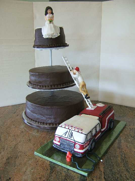 Fire Truck Wedding Cakes  GORGEous Cakes by Kris Fire Truck Grooms Cake with