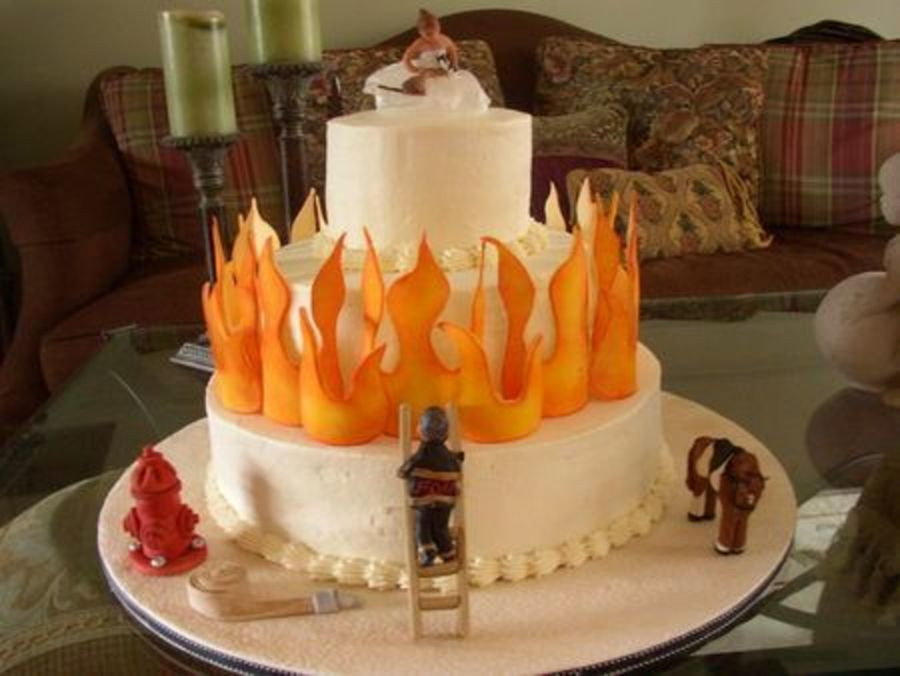 Firefighter Wedding Cakes  Firefighter Wedding Cake CakeCentral