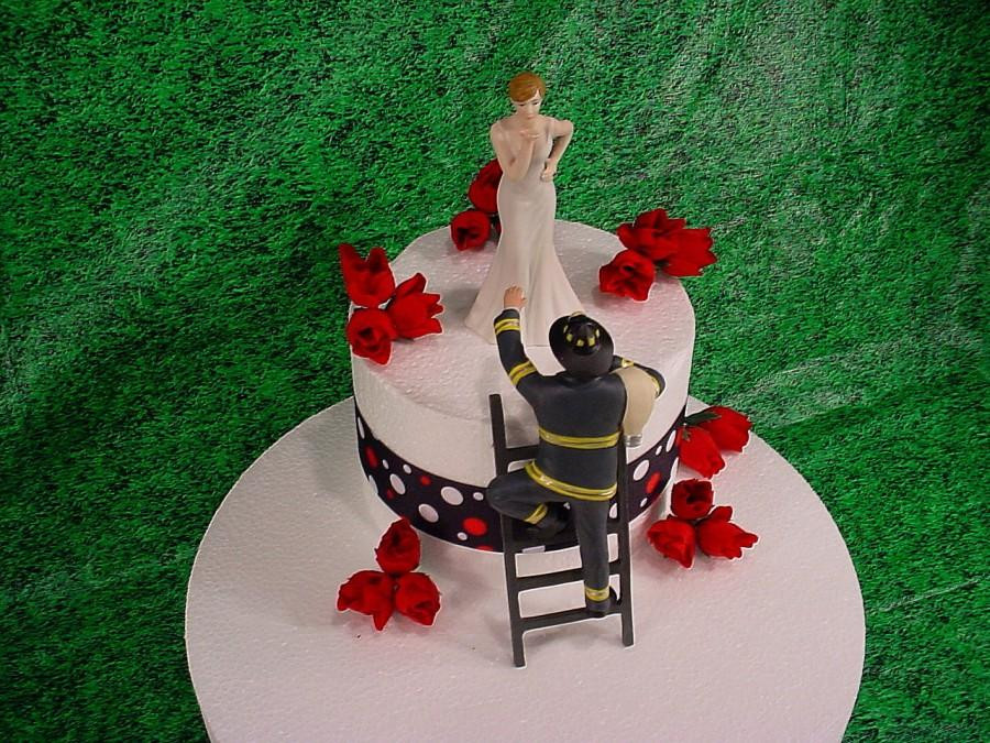 Firefighter Wedding Cakes  Firefighter Wedding Cakes