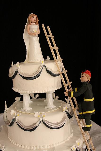Firefighter Wedding Cakes  Fireman Wedding Cake View 1