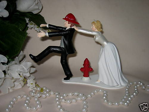 Firefighter Wedding Cakes  Wedding Reception Ceremony Fireman Firefighter Bridal