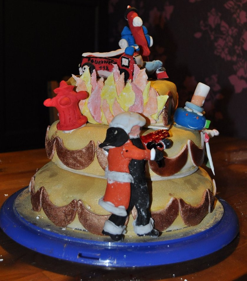 Firefighter Wedding Cakes  Wedding Cake Firefighter Side by JesseSaphir on DeviantArt
