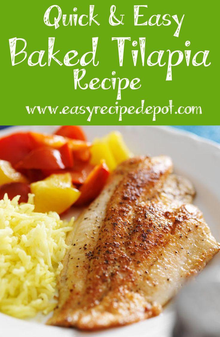 Fish Healthy Recipes  100 Baked tilapia recipes on Pinterest