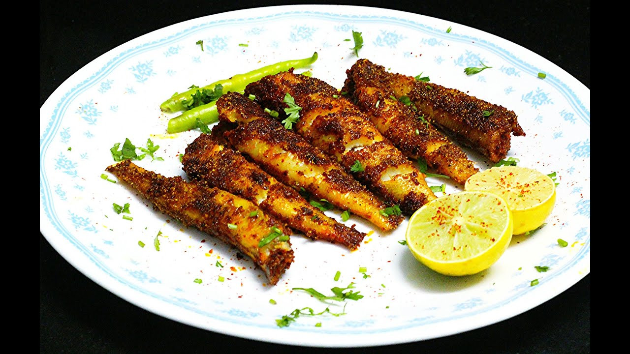 Fish Recipes Healthy  Smoked Masala Lady Fish Fry Healthy fish fry EASY Fish