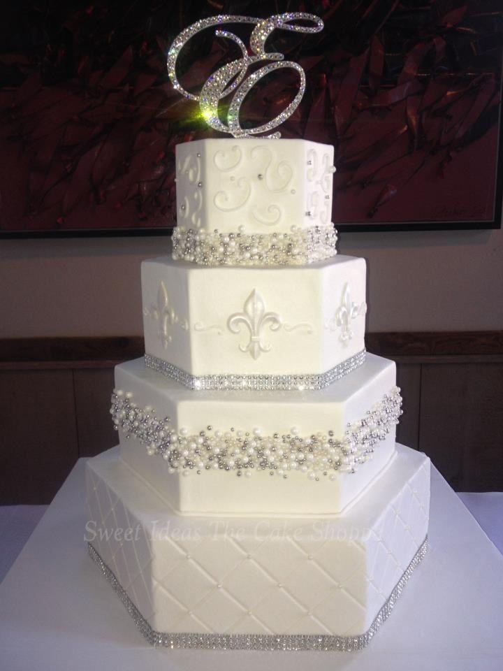 Fleur De Lis Wedding Cakes  Fleur de lis wedding cake idea in 2017