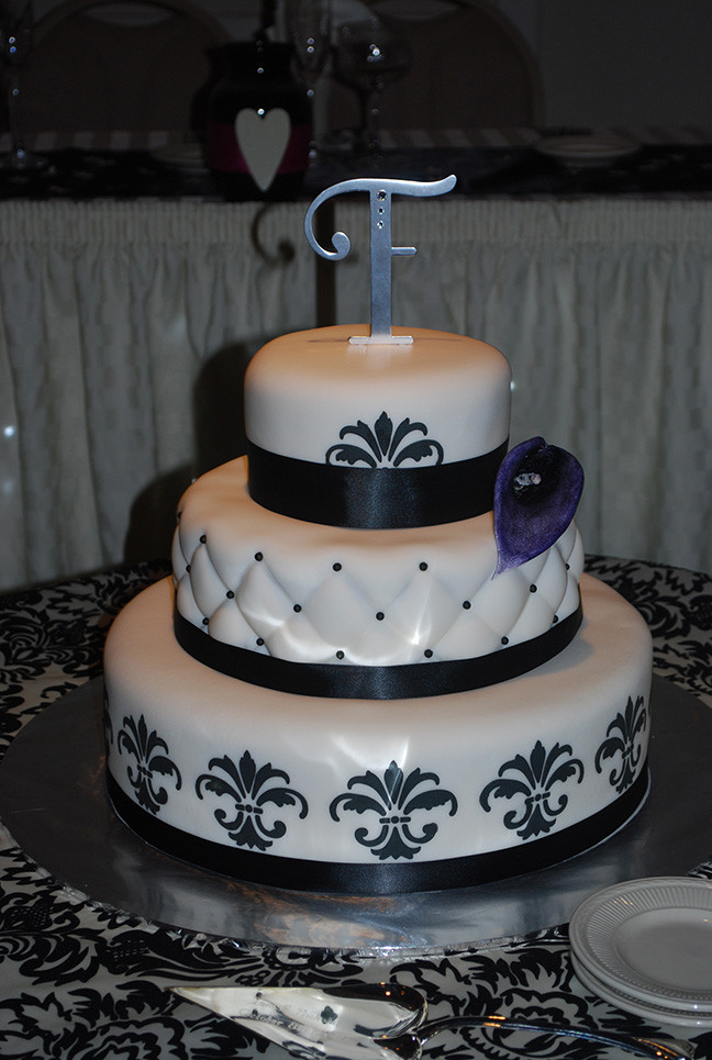Fleur De Lis Wedding Cakes  Cake Portfolio