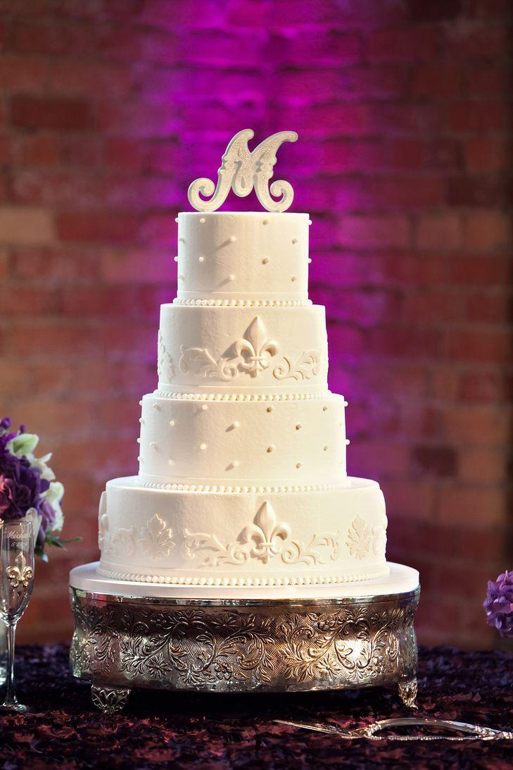 Fleur De Lis Wedding Cakes  Fleur de lis Cake