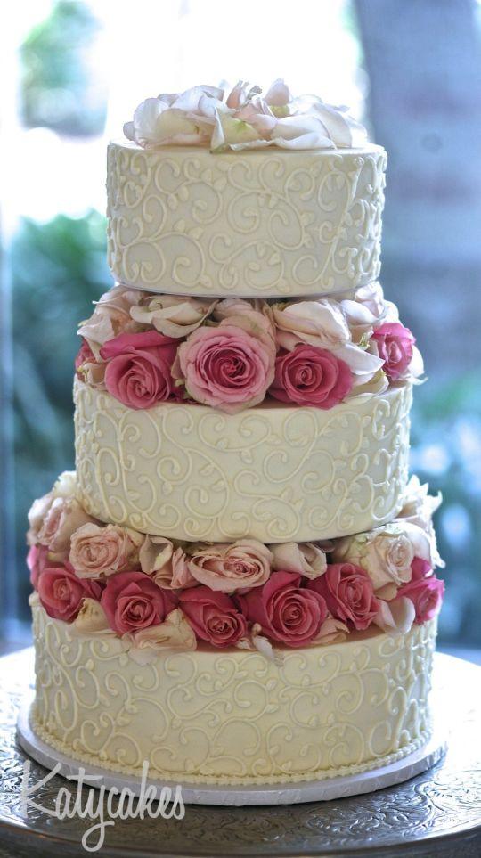 Floating Wedding Cakes  Wedding Cake with Floating Tiers Cake by Katycakes