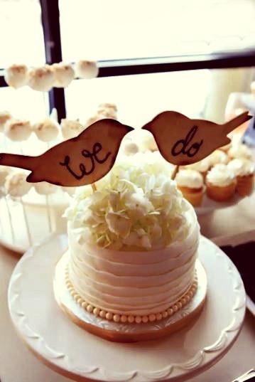 Flour Girl Wedding Cakes  6 Rustic Wedding Cake Toppers We Love