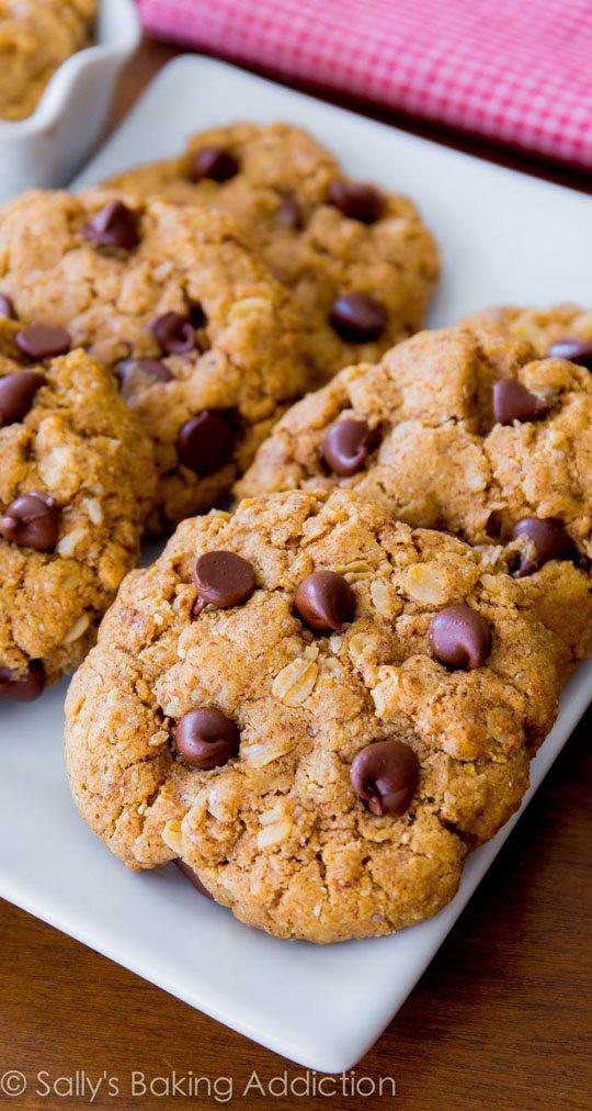 Flourless Oatmeal Cookies Healthy  Flourless Peanut Butter Oatmeal Cookies Sallys Baking