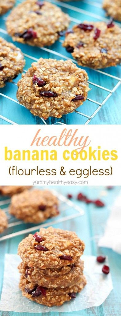 Flourless Oatmeal Cookies Healthy  Healthy Banana Cookies flourless & eggless These