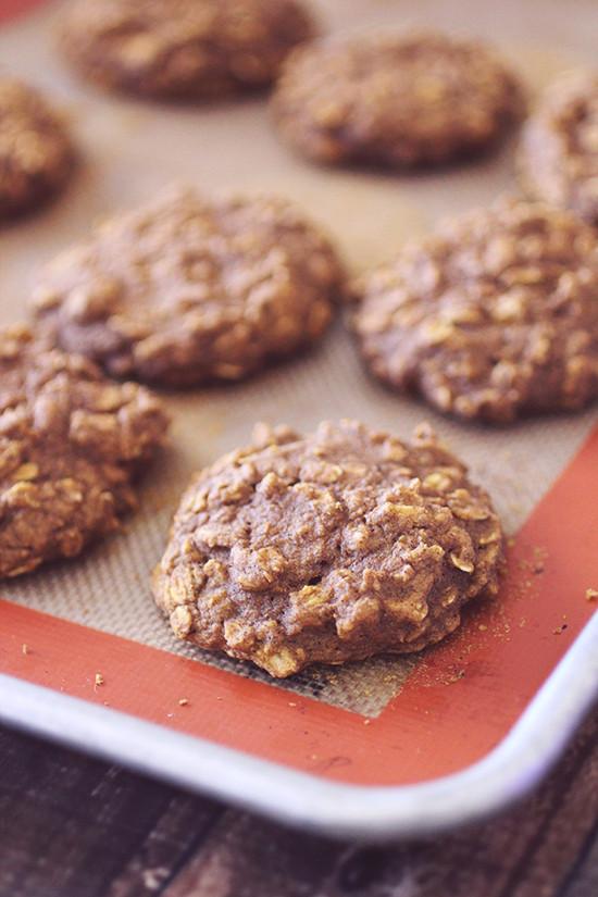 Flourless Oatmeal Cookies Healthy  Flourless Pumpkin Oatmeal Cookies — Dashing Dish