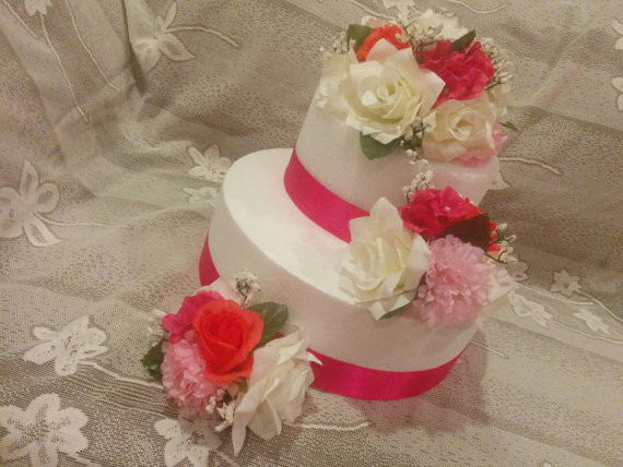 Flowers For Wedding Cakes Artificial  Silk Flower Cake Topper Wedding Cake Decorations Floral