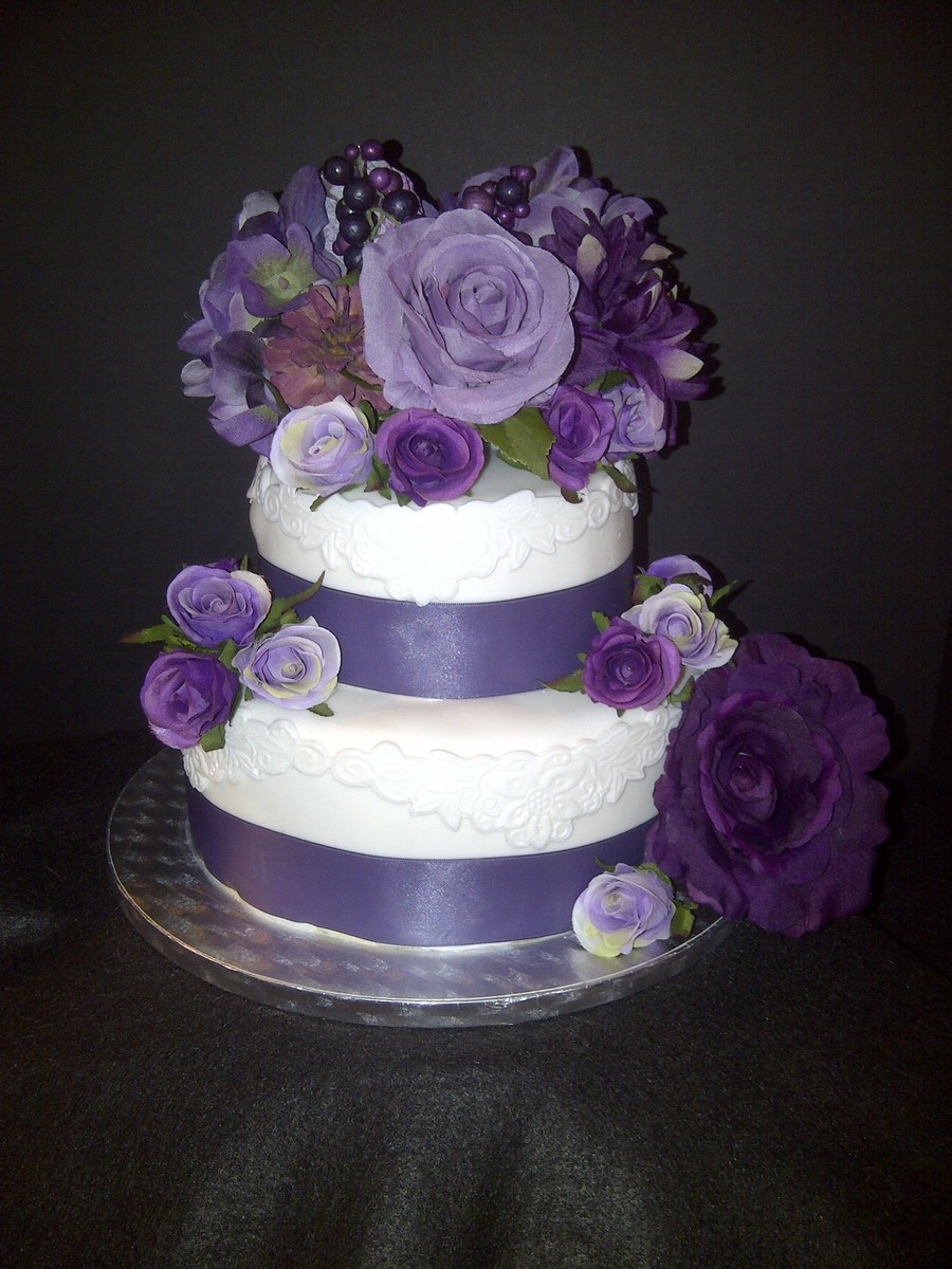 Flowers For Wedding Cakes Artificial  Wedding Cake With Silk Flowers Vanilla Cake With Swiss