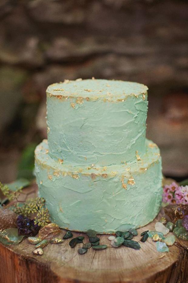 Foam Wedding Cakes  Sea foam Teal & Antique Gold Wedding Inspiration