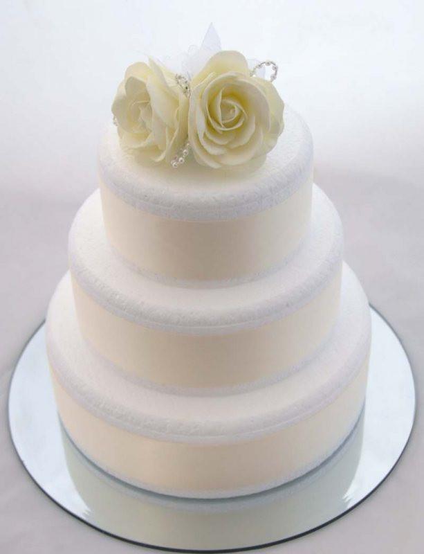 Foam Wedding Cakes  Ivory Foam Rose Wedding Cake Topper With Pearl Loops