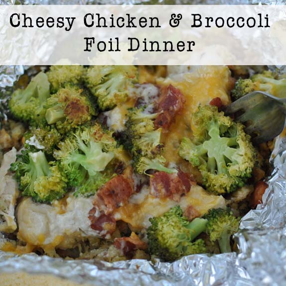 Foil Dinners For Camping  Cheesy Chicken and Broccoli Foil Dinner