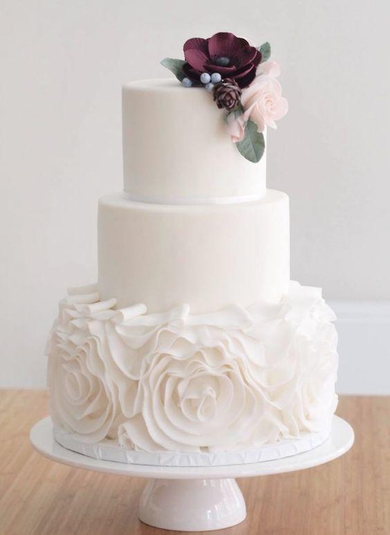 Fondant Wedding Cakes  25 best ideas about Fondant wedding cakes on Pinterest