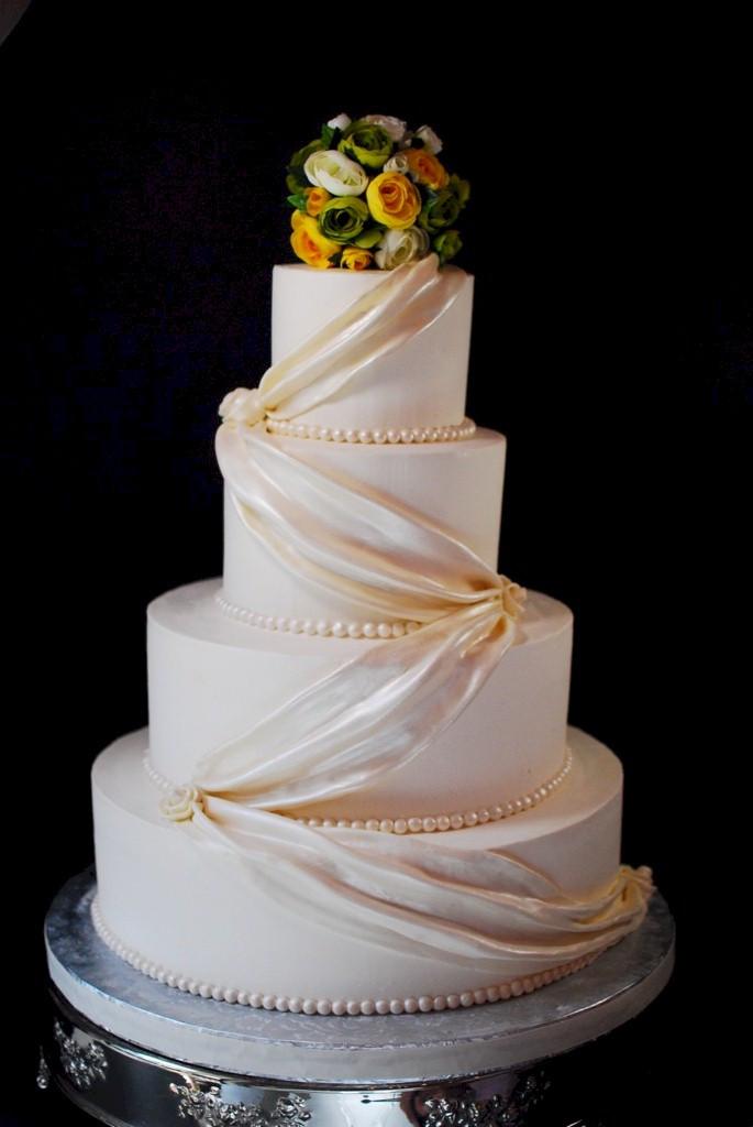 Fondant Wedding Cakes  Cup a Dee Cakes Blog Fondant Swag Wedding Cake