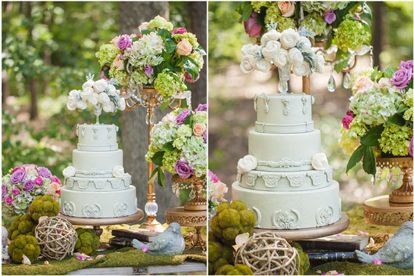 Forest Wedding Cakes  Enchanted Forest Bridal Shoot Pretty My Party