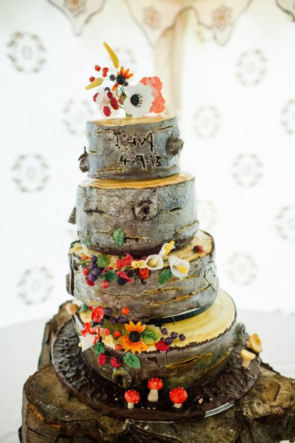 Forest Wedding Cakes  Eco And Natural Forest Wedding Abigail & Lisa Weddbook