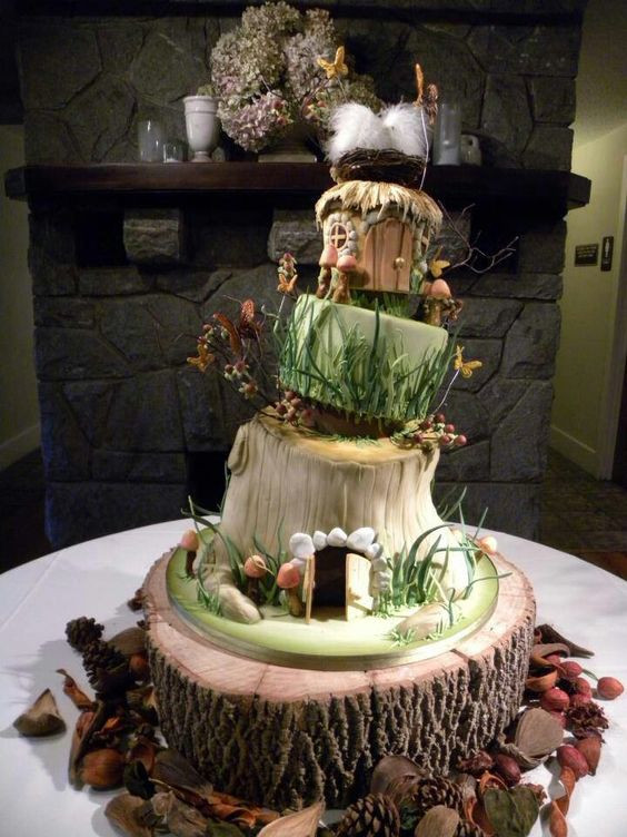 Forest Wedding Cakes  38 Woodland Wedding Cakes That Will plete Your