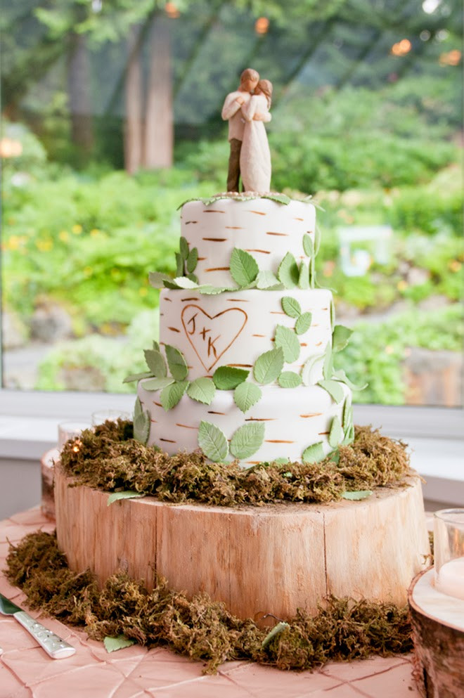 Forest Wedding Cakes  Enchanted Forest Wedding with a Touch of Magenta Belle