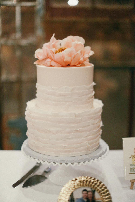 Fort Worth Wedding Cakes  custom wedding cake blush ruffles sugarbeesweets