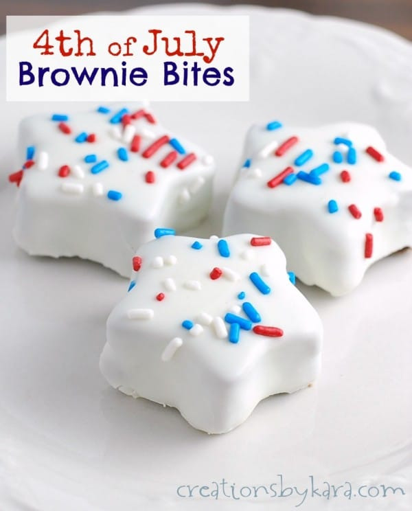 Fourth Of July Brownies  4th of July Brownie Bites